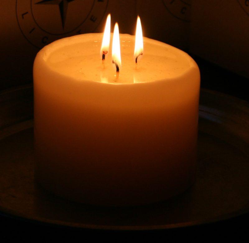 brennende Polarlichter - Kerze
