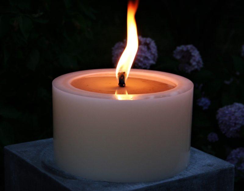 Polarlichter - Kerzen, Kerze auf Stein, DIY