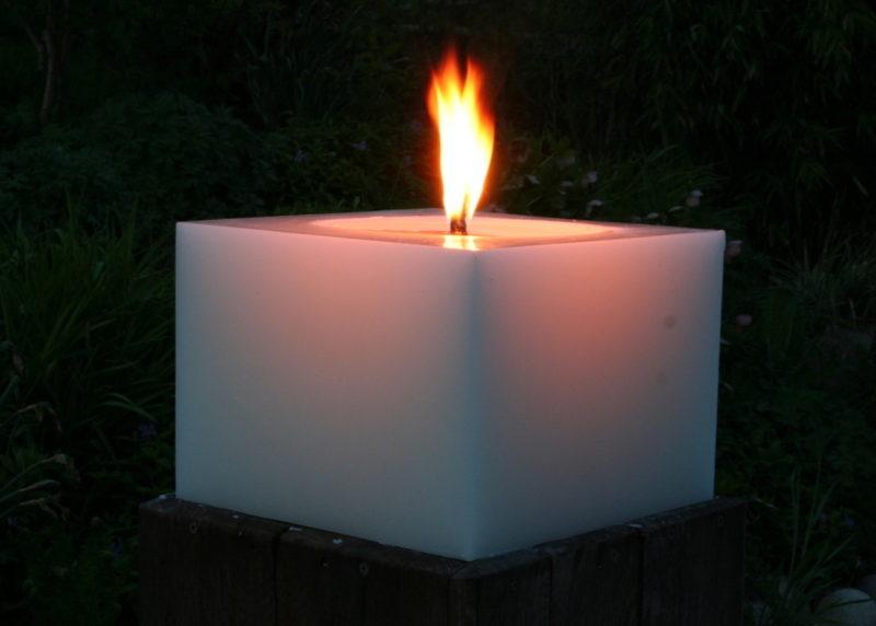 Polarlichter - Kerzen, Kerze auf Baumstamm, DIY, Dekoration