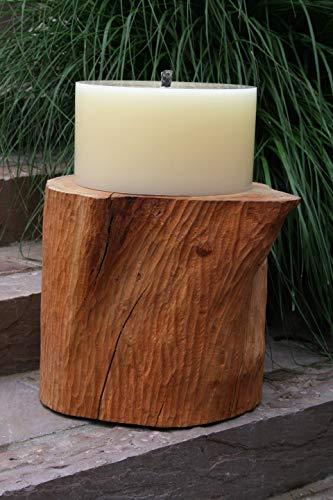 Kerze auf Baumstamm, Dekoration, DIY
