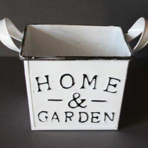 Zink-Übertopf-Home-&-Garden-mit-zwei-Griffen-13,5-x-13,5-x-10-cm